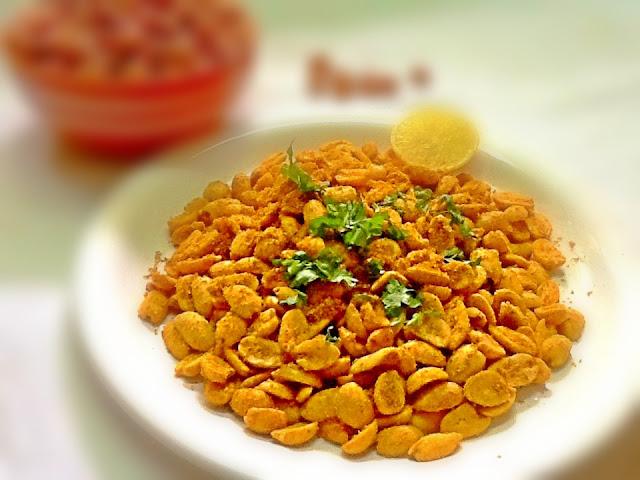 Masala lemony peanuts