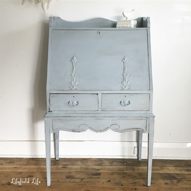 hand painted vintage desk by Lilyfield life