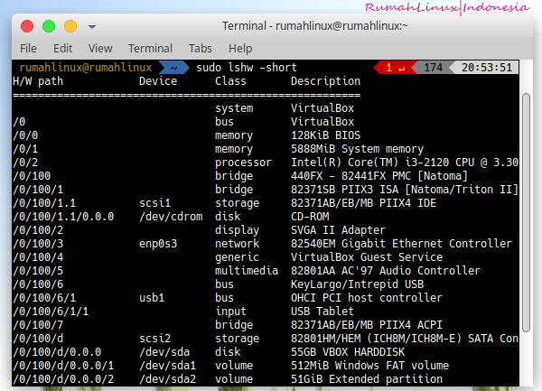 Cek Spek Komputer di Linux|Info Hardware di Linux|System Info Linux|Redhat Hardware Info|Linux Untuk Pemula Otodidak