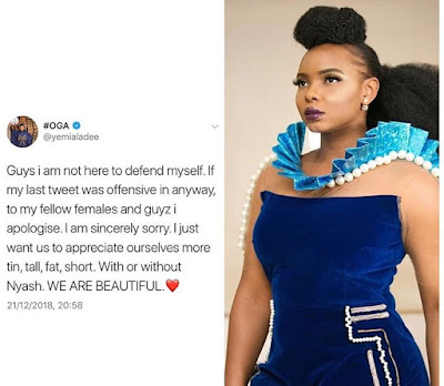 Yemi Alade Defends Her Tweet Against Tiwa Savage