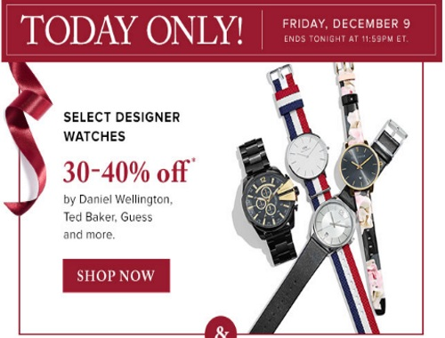 Hudson's Bay30-40% off Designer Watches
