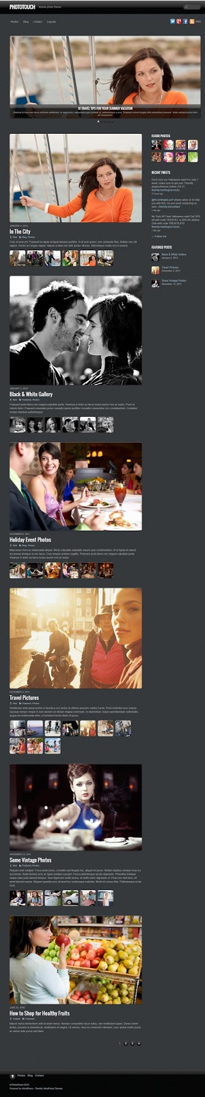PhotoTouch- Mobile Friendly Wordpress Theme For Photography