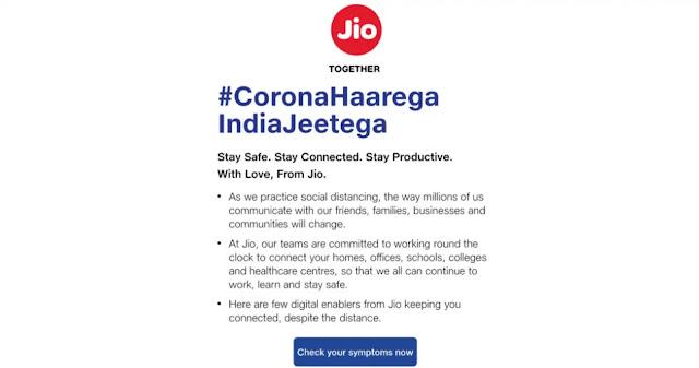 My jio लॉन्च करेगा Covid-19 टिप्स के लिए ऐप्प, भारत सरकार का भी अपना ऐप्प