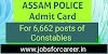 Assam Police Constable Admit Card 2020: Download Call Letter @ Slprbassam.In