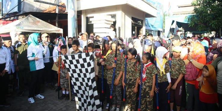 Walikota Tangsel Airin Rachmi Diany turut memeriahkan HUT Ciputat Timur ke 10.