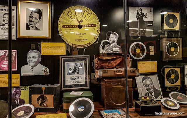 Coleção de memorabilia do Sun Studio, em Memphis