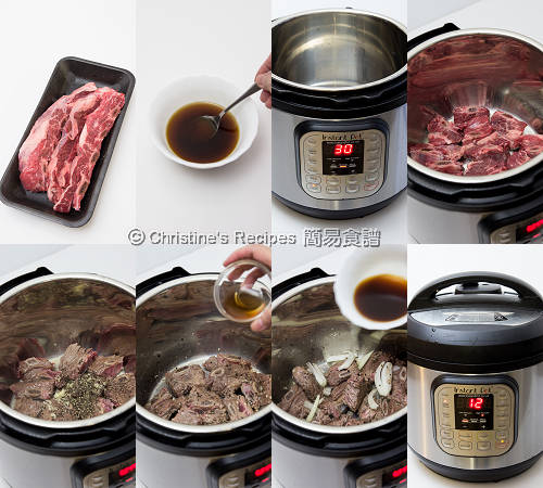 黑辣炆牛仔骨 Beef Ribs in Black Pepper Sauce Procedures
