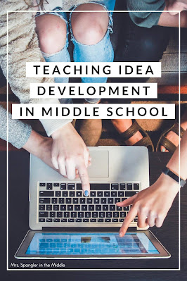 Find out how I teach my middle school students to trace the development of ideas in a nonfiction text.
