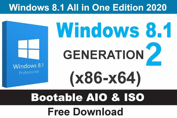 Window 8.1 All in One Edition 2020