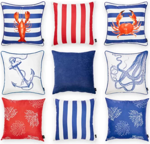 Coastal Nautical Pillow Covers