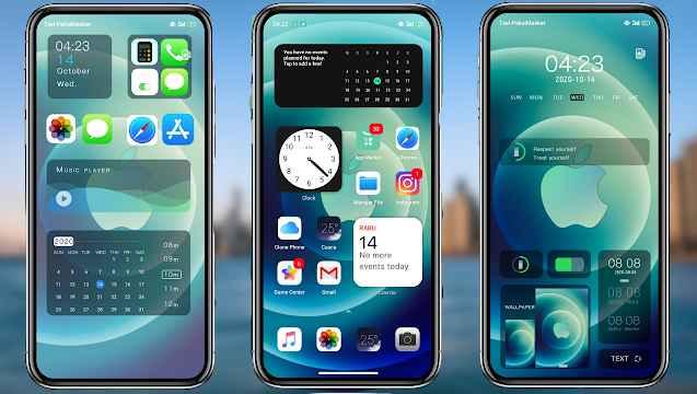 Download Tema iOS 12  Untuk  OPPO  Tembus Semua Aplikasi
