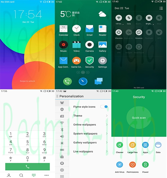 Flyme OS 5 1 8 8R Based on Lollipop 5 1 1 for Redmi 1s [Updated