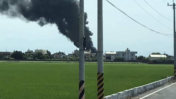 彰化縣大城鄉工廠大火空污 環保局提醒加強個人防護