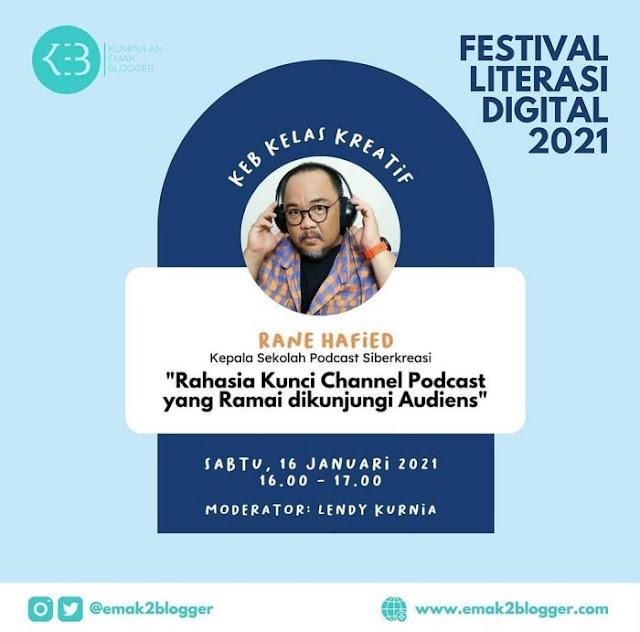 Om Rane : Kepala Sekolah Siberkreasi dan Podcaster Indonesia
