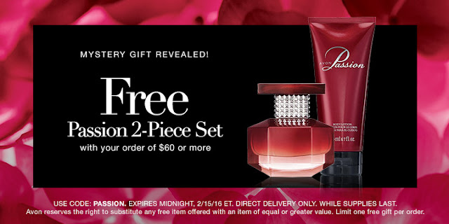 Free Avon Passion 2-piece set with your $60 online order. Shop Avon: https://www.avon.com/?repid=16395669