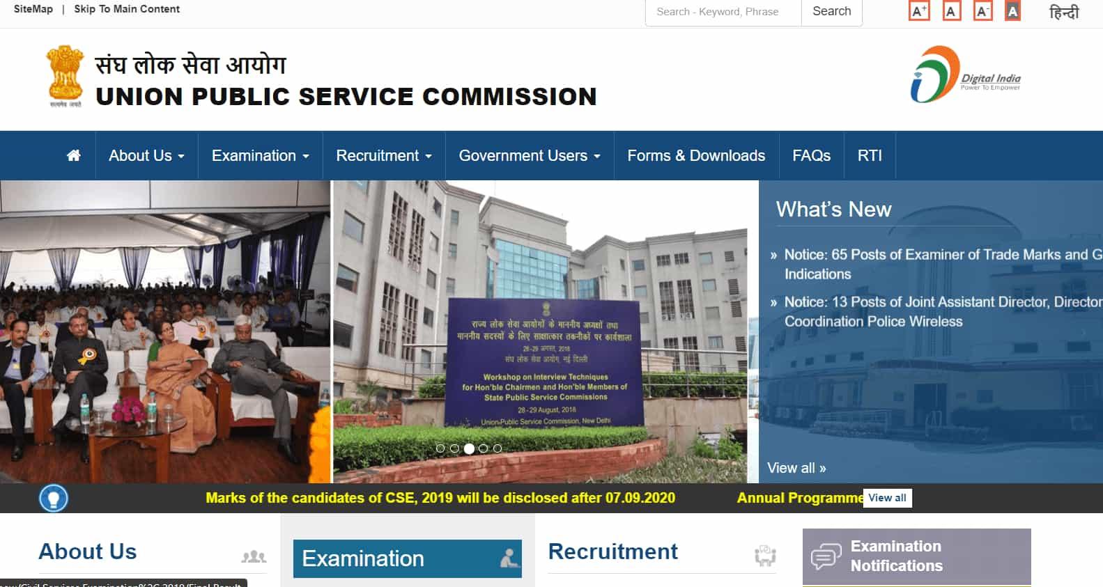 UPSC CSE Score Card 2019