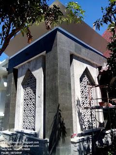 panel GRC krawangan masjid Ar Roudhoh terpasang di bangunan masjid