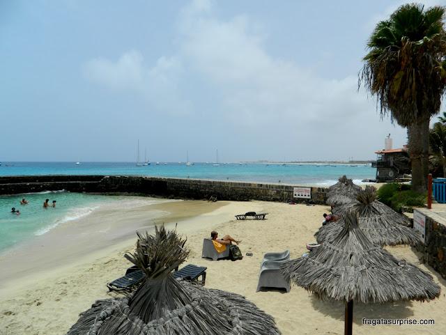 Estrutura de praia do condomínio Porto Antigo 1, Ilha do Sal, Cabo Verde
