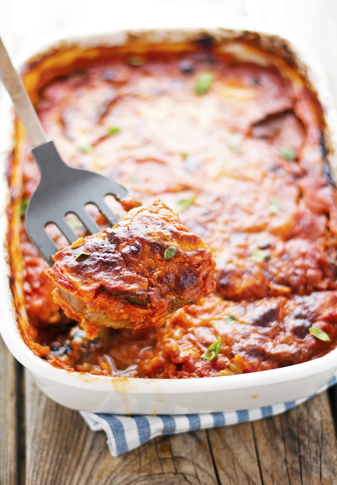 Healthier Eggplant Parmesan