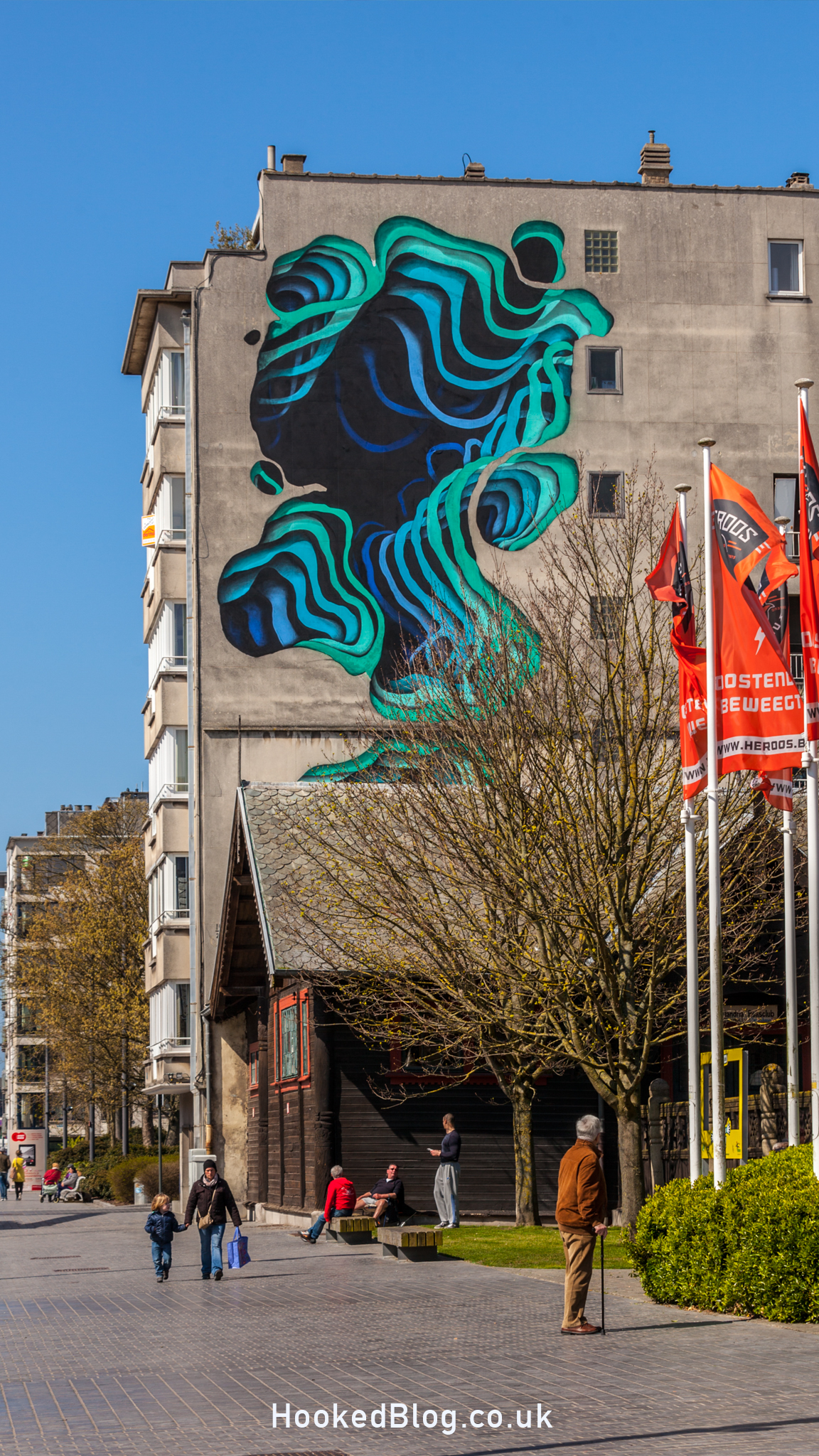 Street Artists Follow the waves of The Crystal Ship to Ostend, Belgium