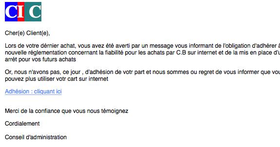 vous avez un message (Phishing CIC) | Scam