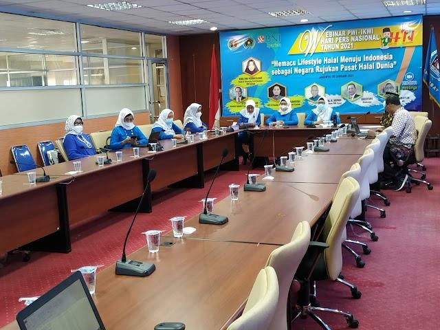 """Jelang HPN 2021, IKWI Gelar Webinar """"Memacu Indonesia Jadi Pusat Halal Dunia"""""""