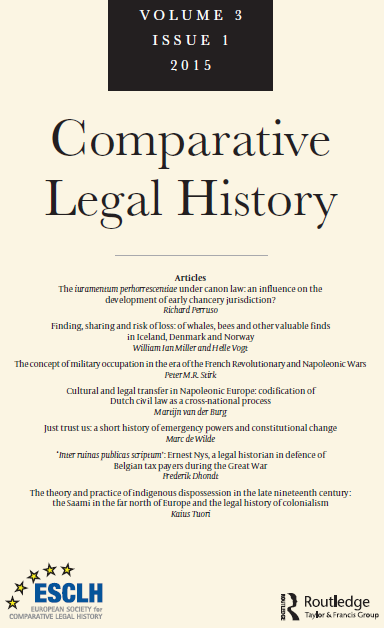 Comparative Legal History (The Official ESCLH Journal)