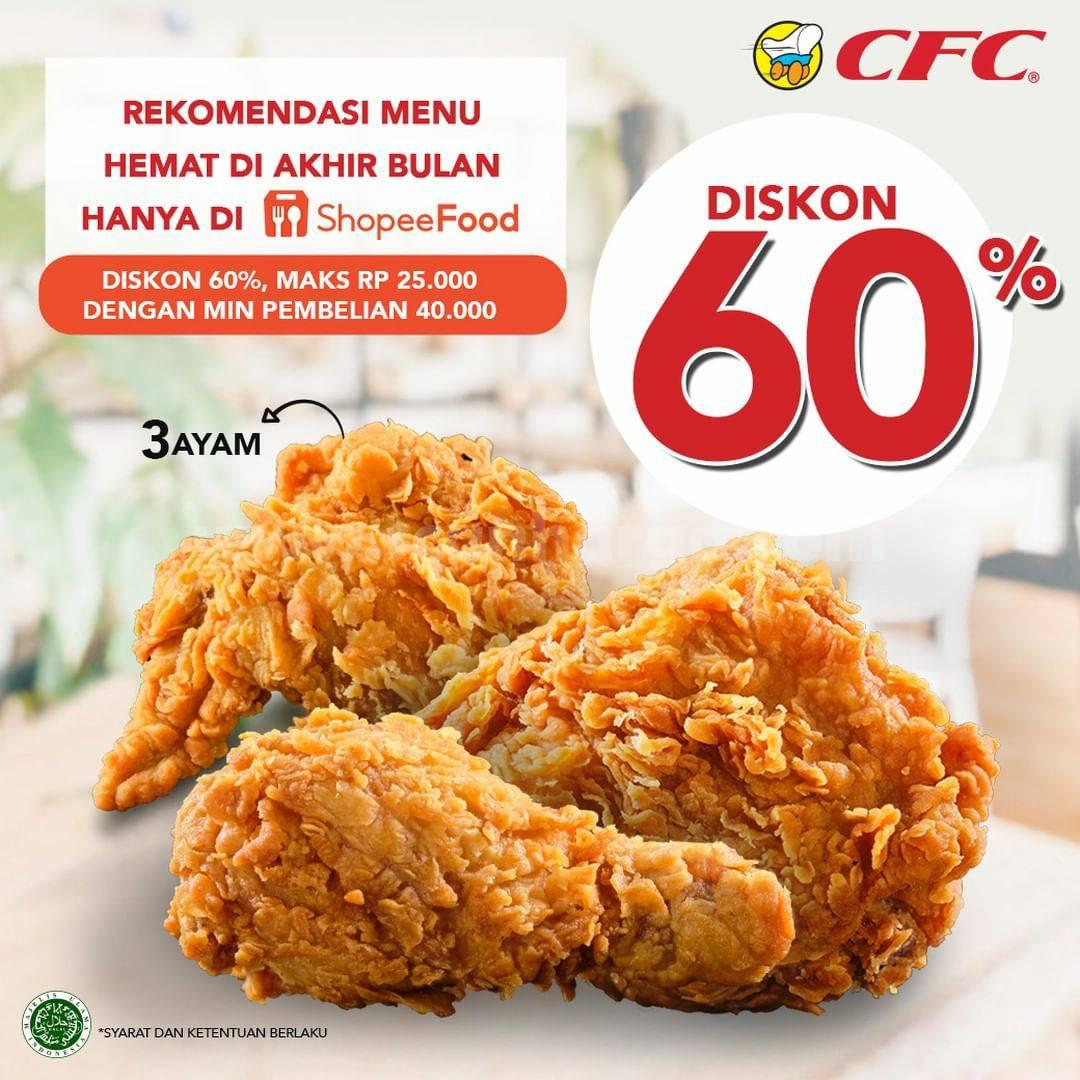 Promo CFC DISKON 60% Bareng SHOPEEFOOD