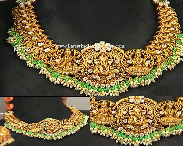 Lakshmi Ganesh Saraswati Necklace