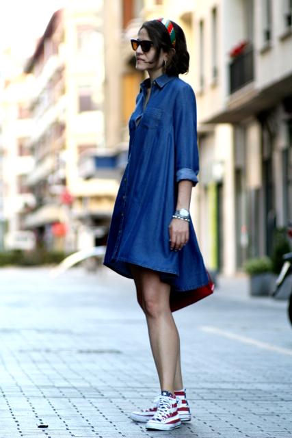 Como combinar un vestido camisero