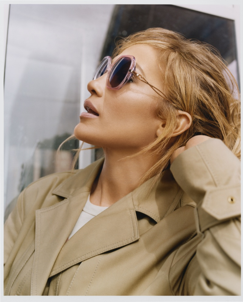 Jennifer Lopez poses for Coach Eyewear spring 2021 campaign.