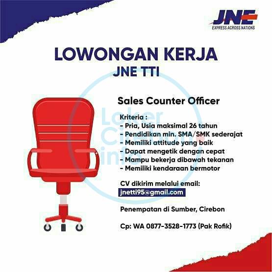 Lowongan Kerja JNE TTI Sumber Cirebon