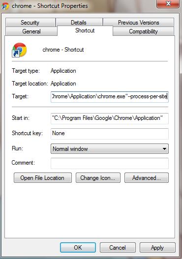 membuat shrtcut chrome di desktop untuk meminimalisir penggunaan ram