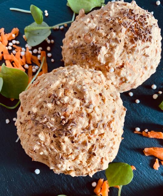 Möhren-Quinoa-Brötchen, Rezept glutenfrei & vegan, Minimalismus: Zubereitung einfach + schnell, Healthy Food Style, Blog, Rezeptinspirationen für jeden Tag, gesund und lecker, Rezeptideen, schnelle Rezepte, entdecken, leicht