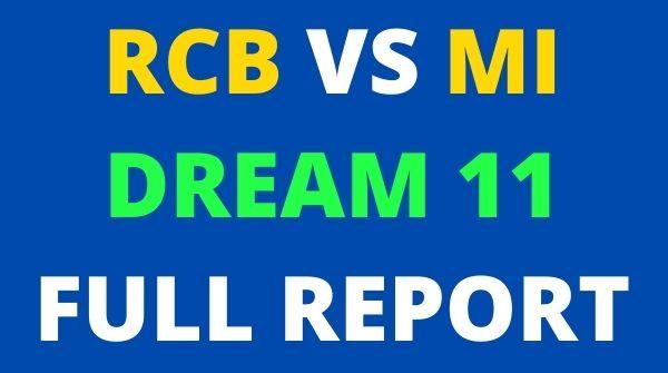 RCB vs MI IPL 2020 Dream11 Predictions: Royal Challengers Bangalore  vs Mumbai Indian best XI – RCB vs MI LIVE at 7:30 PM