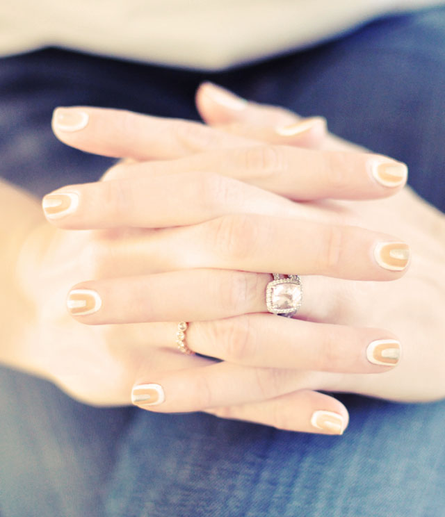 neutral nail art manicure for spring 2013