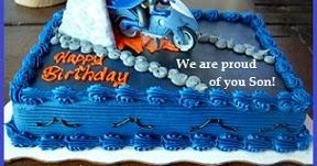 Birthday Cake Wordings Son