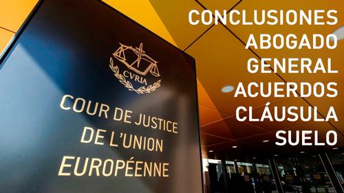 Conclusión del abogado general sobre acuerdos de novación de cláusula suelo