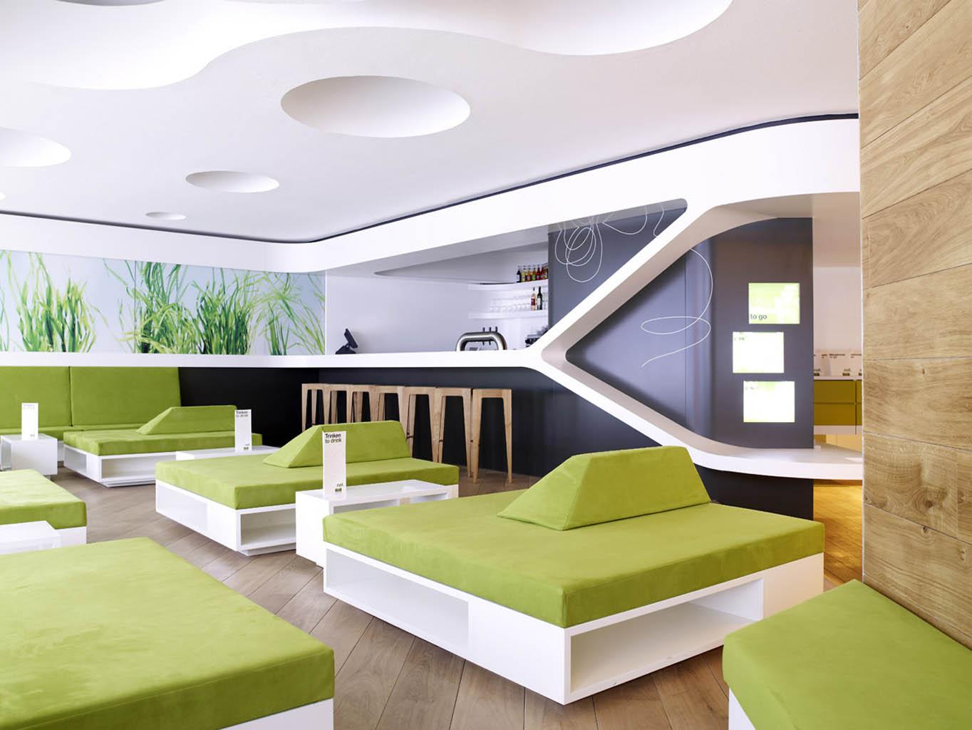 imagine these restaurant interior design nat fine organic food hamburg mitte eins eins. Black Bedroom Furniture Sets. Home Design Ideas
