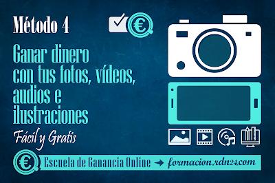 Ganar dinero con tus fotos, vídeos, audios e ilustraciones