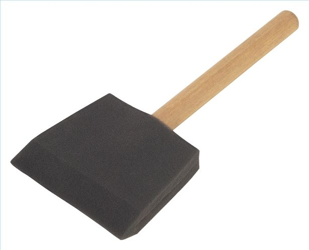 Sponge brushes school paints