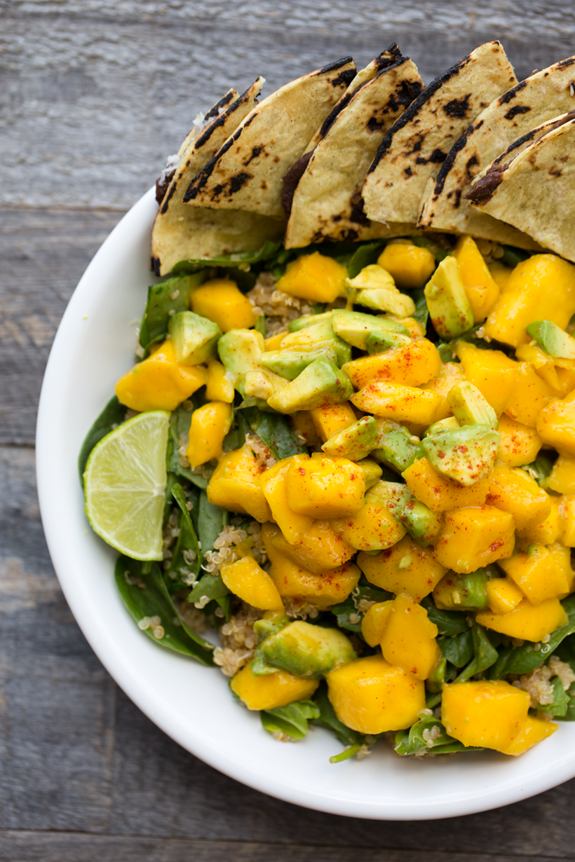 Chili-Lime Mango Avocado Quinoa Power Salad