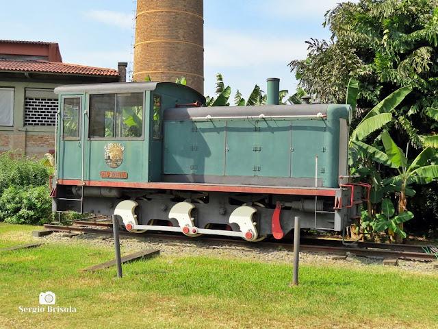 Close-up da Locomotiva Filomena - Casa das Caldeiras - Lapa - São Paulo