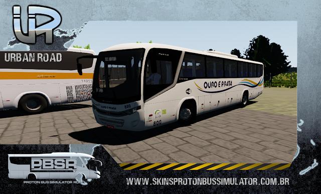 Skin Proton Bus Simulator Road - Audace MB OF-1721 BT5 Viação Ouro e Prata