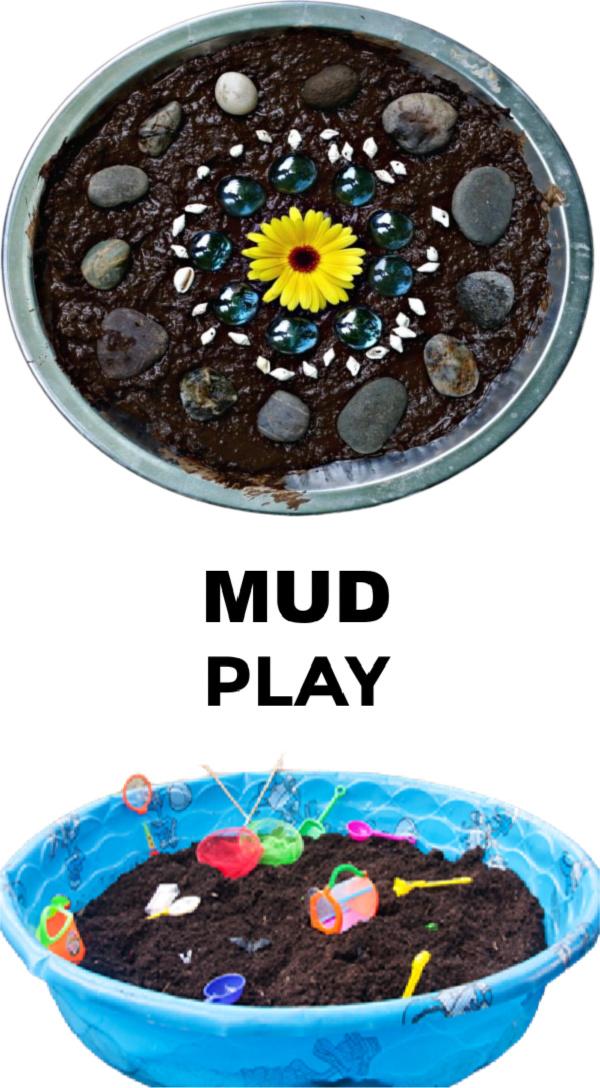 Tons of fun and creative ways for kids to play in the mud! #mudplayideas #mudactivitiesforpreschool #mudrecipeforkids #internationalmudday #growingajewelerose