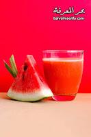 عصير البطيخ بدون اضافات