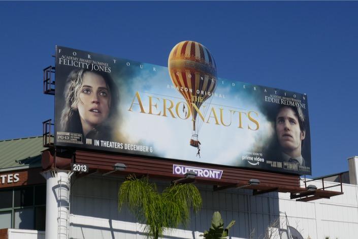 Aeronauts hot air balloon extension billboard
