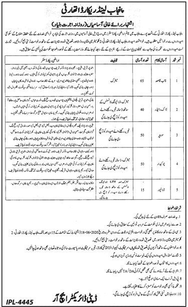 punjab-land-record-authority-plra-jobs-2020