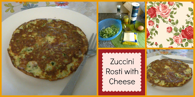 Zuccini Rosti with Cheese
