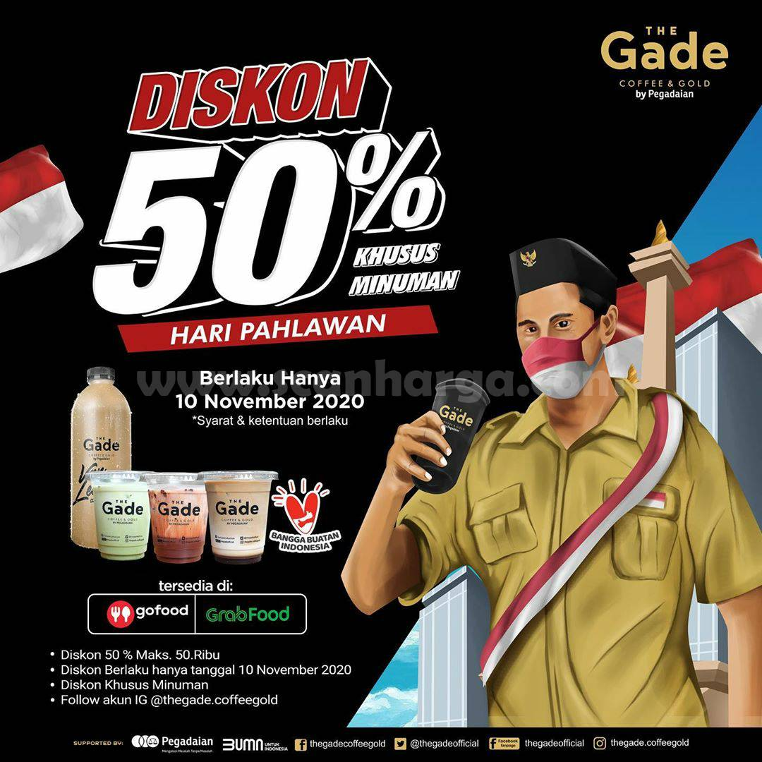 The Gade Coffee Promo Diskon 50% Khusus Minuman di Hari Pahlawan
